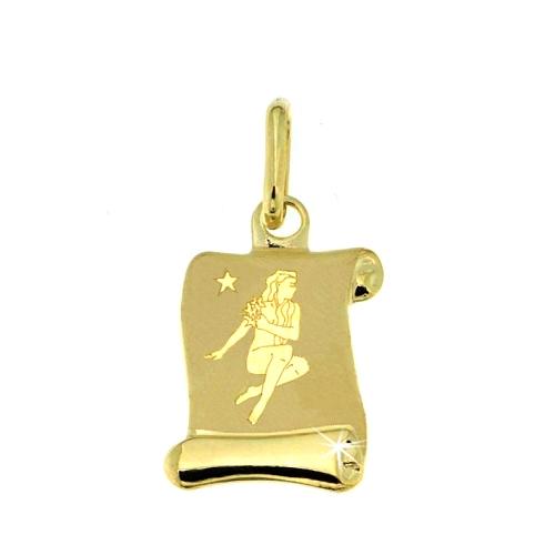 Zlatý přívěsek - znamení Panna