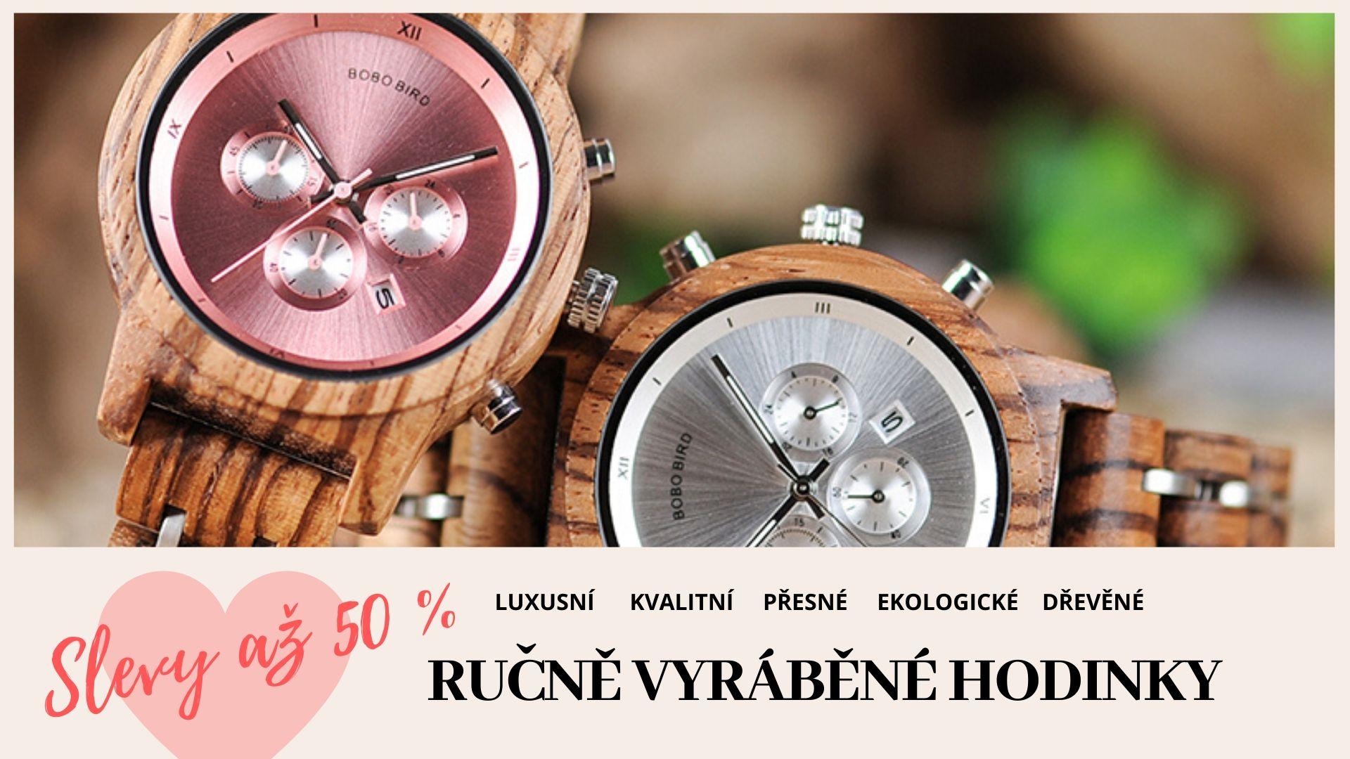 Dřevěné ručně vyráběné hodinky