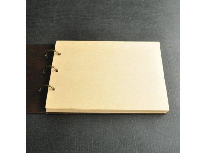 Svatební kniha hostů - dřevěná, se jmény a datem