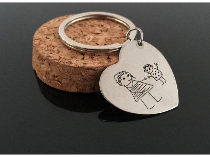 Přívěsek na klíče s vlastní kresbou