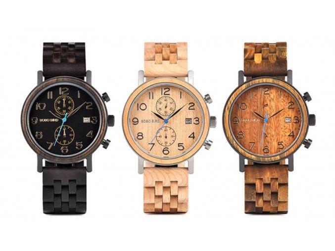 Luxusní pánské dřevěné hodinky RENIO