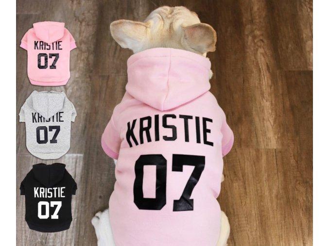 Stylový obleček mikina s kapucí, jménem a číslem