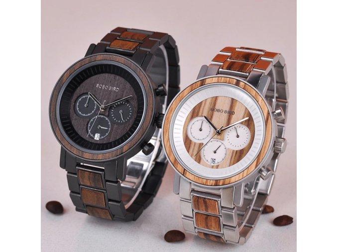 Luxusní pánské dřevěné hodinky MUSCOLINO