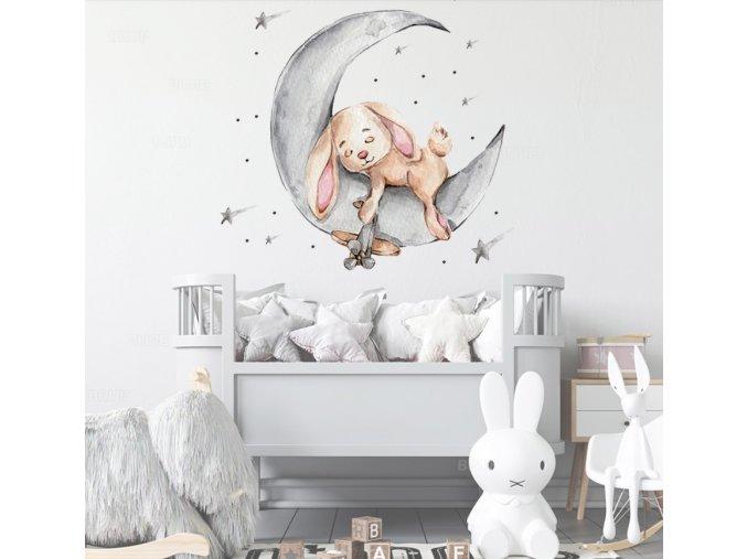 Samolepka na zeď nebo nábytek - Zajíček