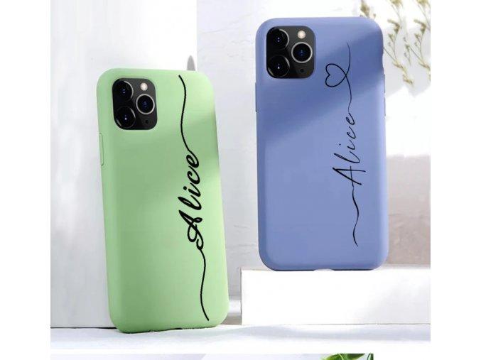 Obal na iPhone se jménem - barevný