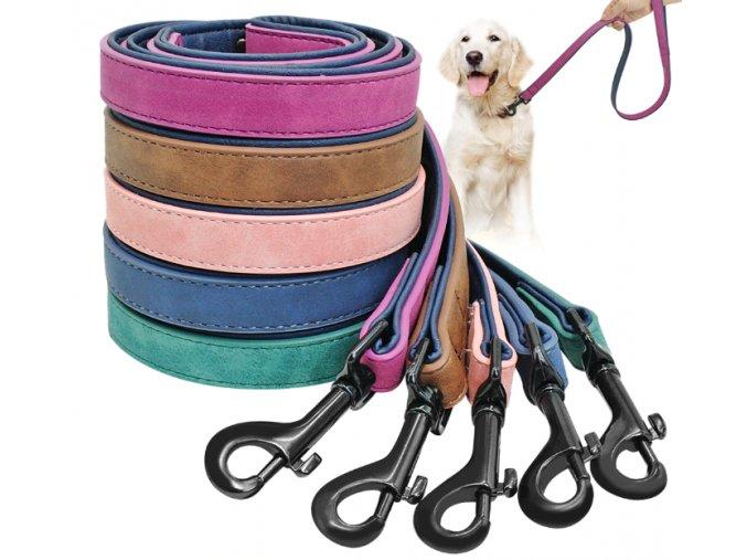 Kožené vodítko pro psa