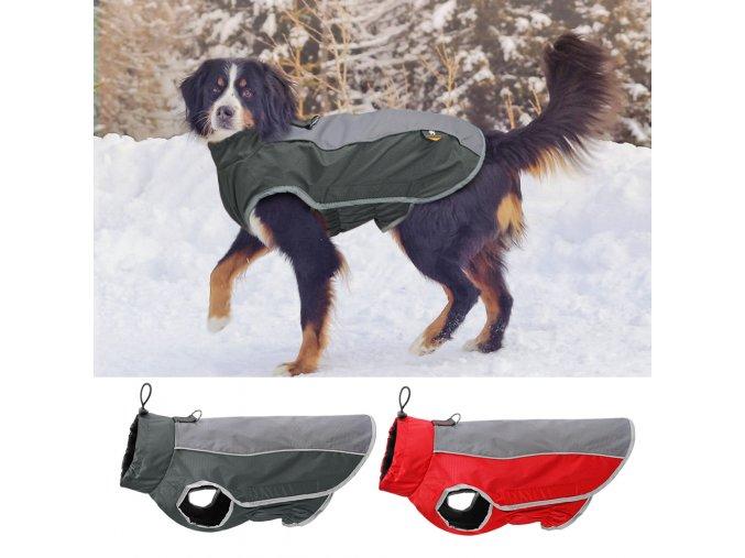 Nepromokavý obleček pro psy s reflexními prvky FIN