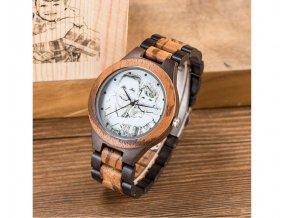 Pánské dřevěné hodinky s vlastní fotografií na ciferníku i krabičce PETER