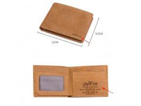 Kožená peněženka se jménem nebo vlastním textem