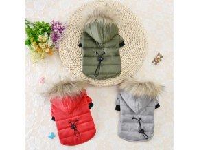 Obleček bunda s kožíškem BIBI