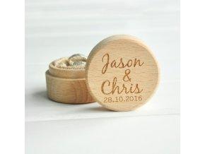 krabička na prstynky drevena kruhova
