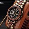 Luxusní pánské dřevěné hodinky CHRONOGRAPH MILITARY