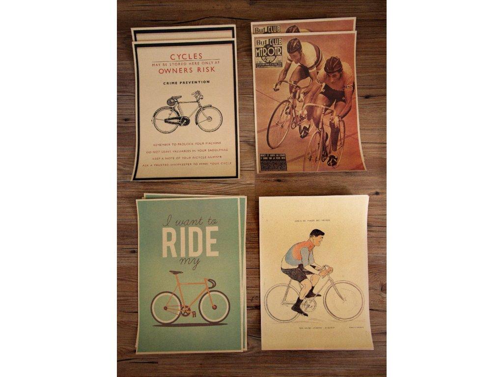 Plakáty pro pravé cyklisty