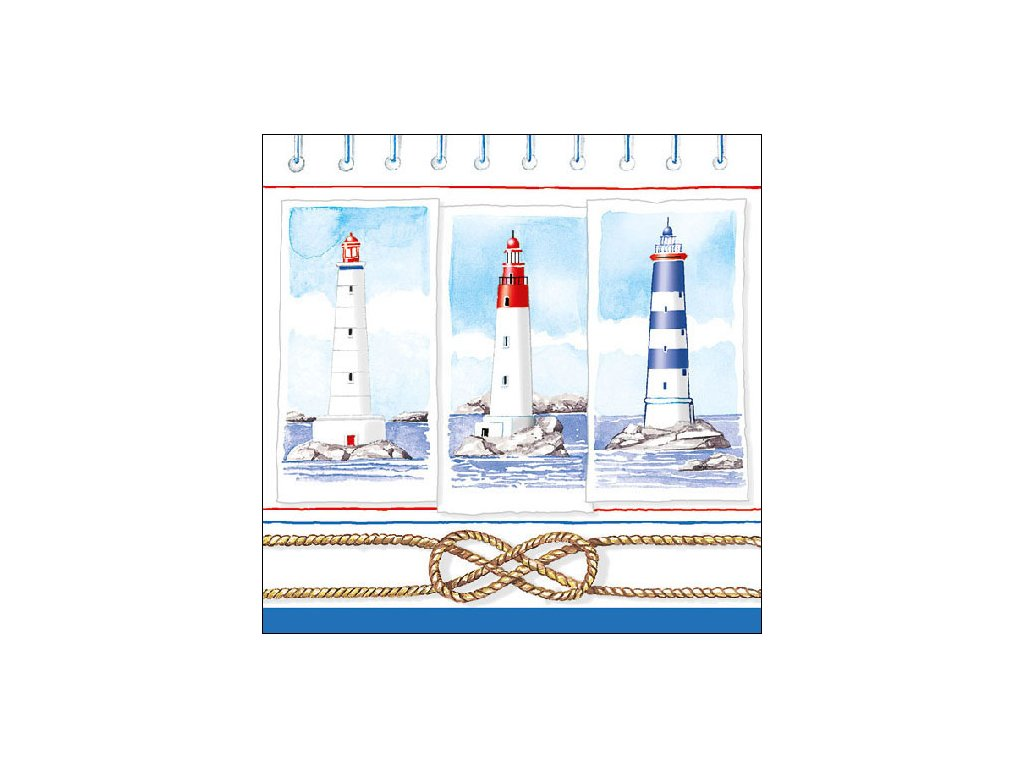Napkin 33 Lighthouses