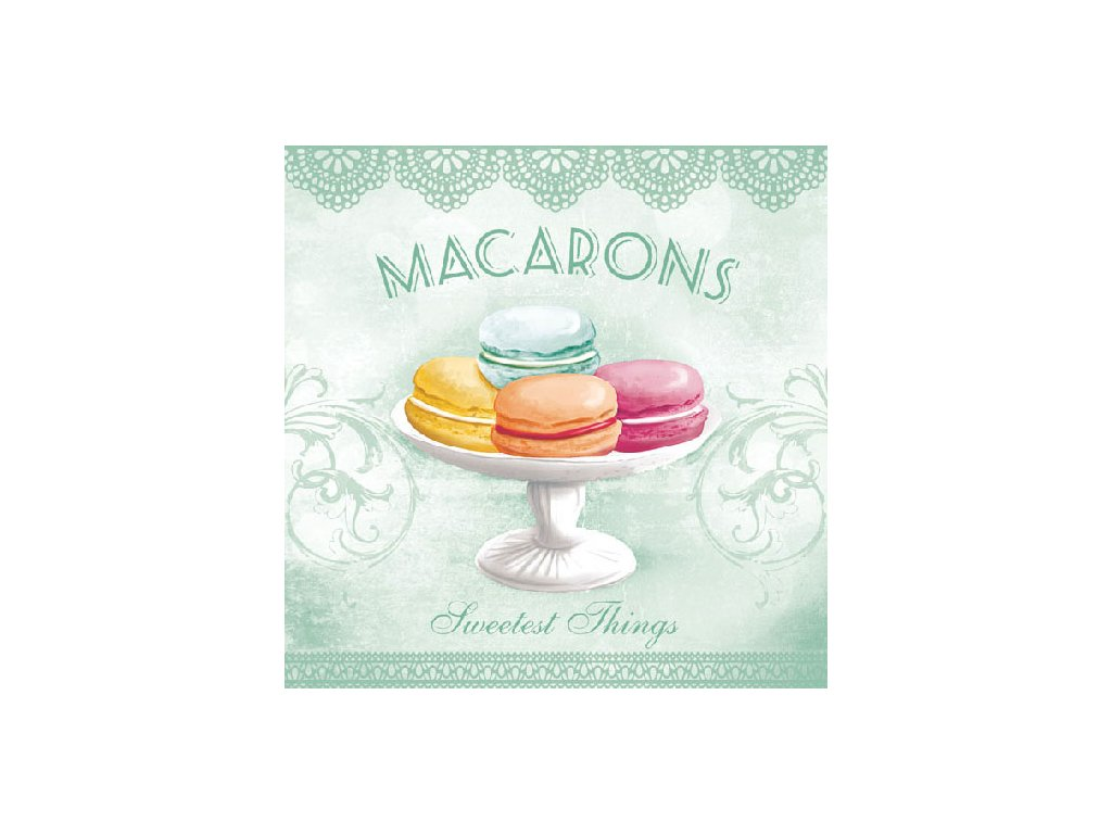 Napkin 33 Macarons Aqua