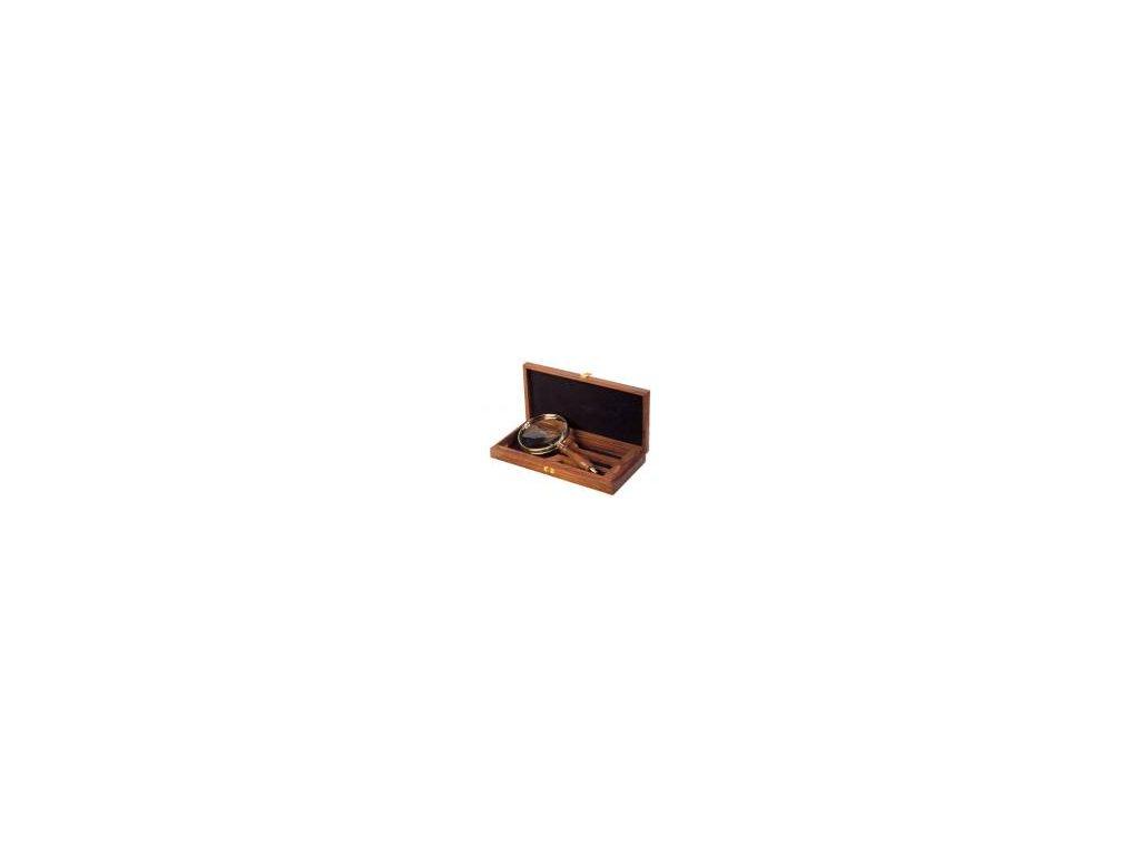 Lupa v dřevěné krabičce