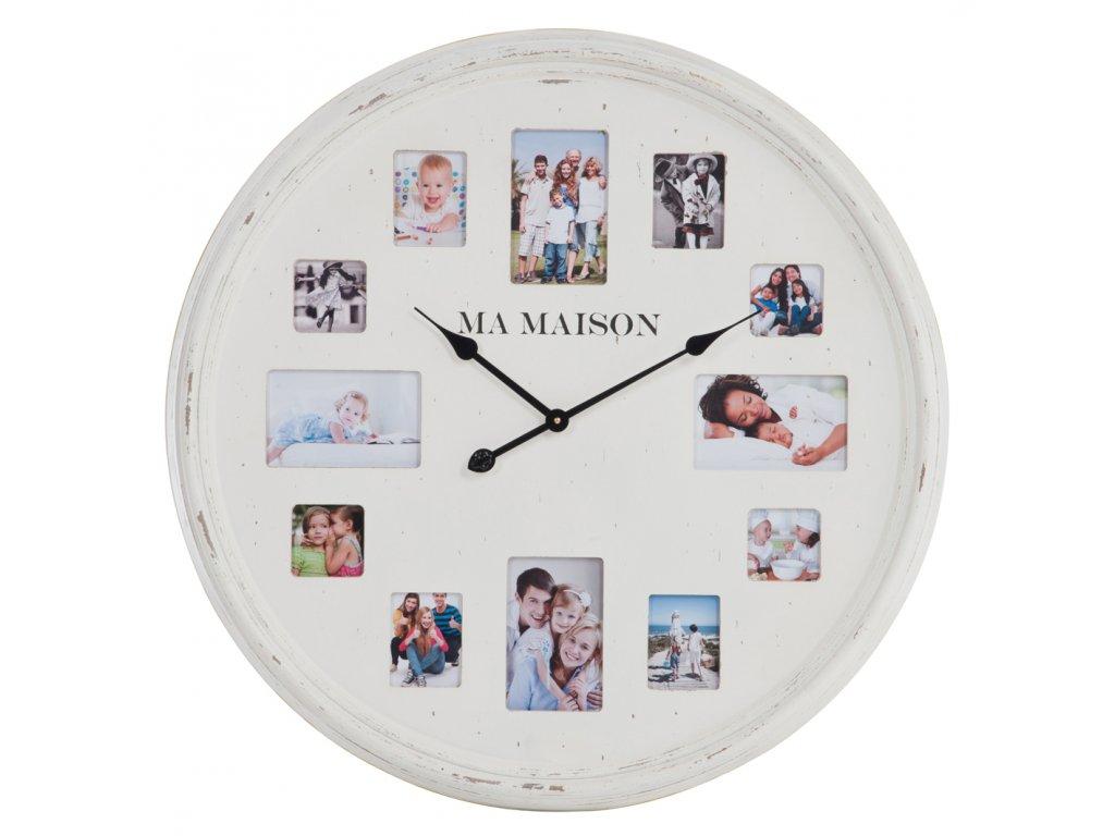 hodiny s rámečky na fotky