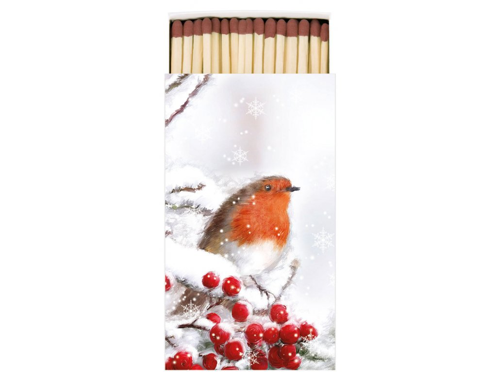Zápalky Robin In Snow