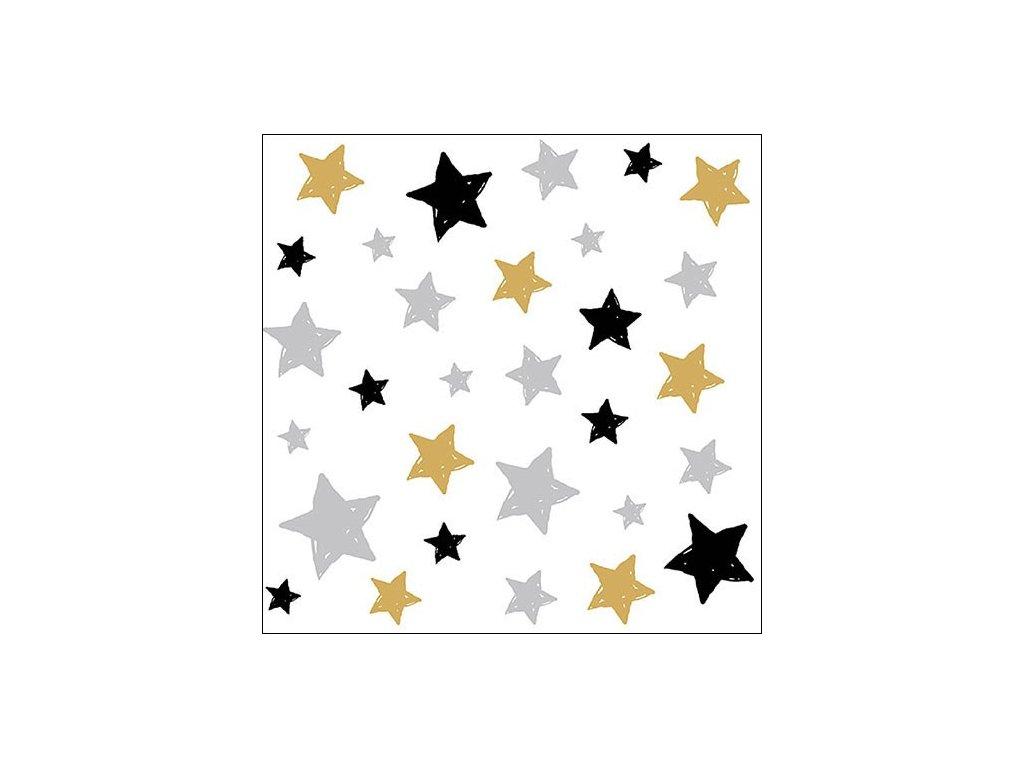 Napkin 33 Swirling Stars
