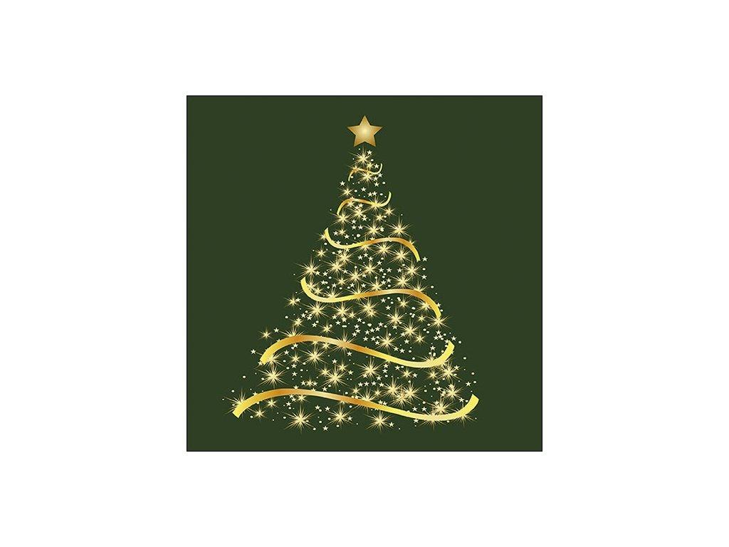Napkin 33 Shining Tree Green