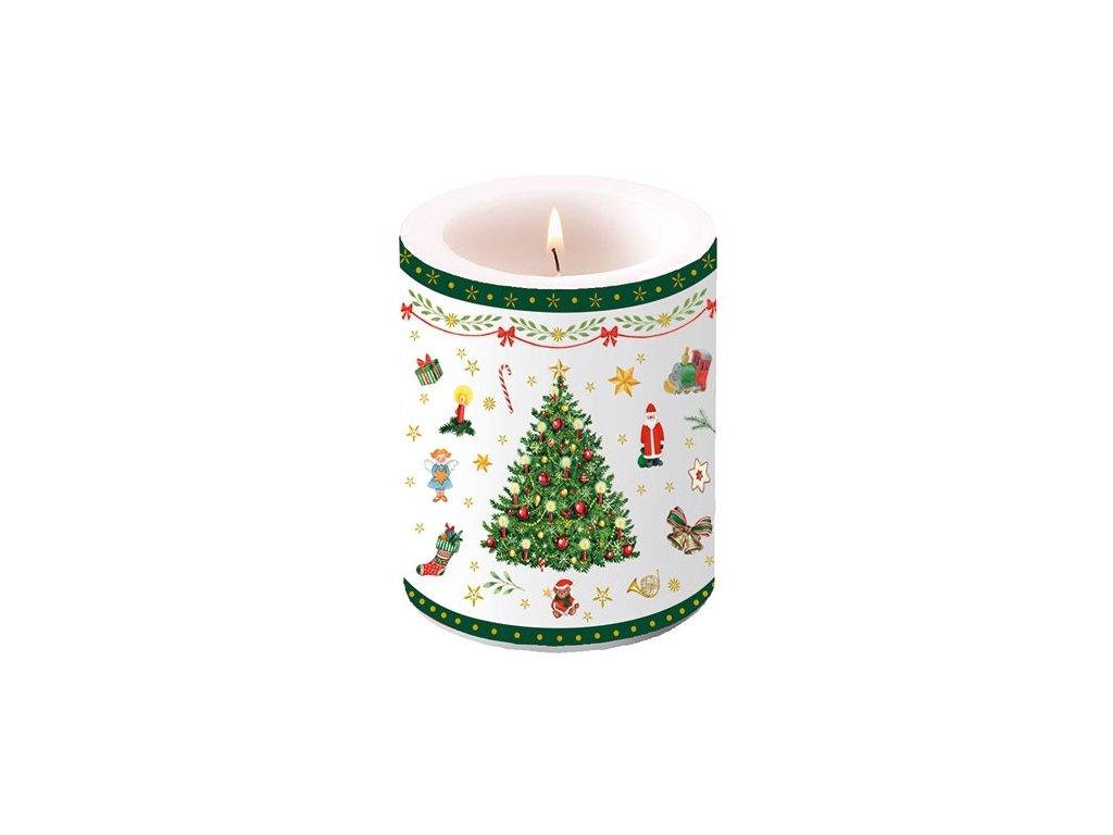 Candle Big Christmas Evergreen White