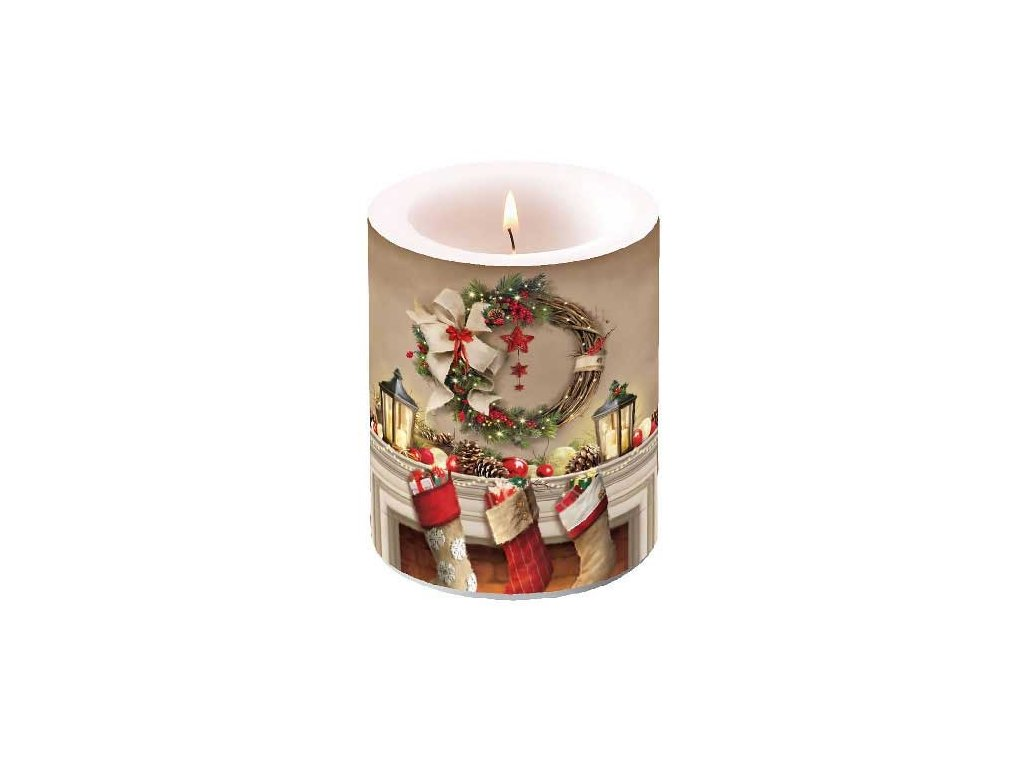 Candle Big Wreath And Socks