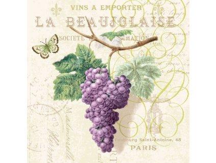 Napkin 33 Purple Grapes Cream