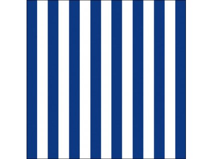 Napkin 33 Stripes Navy Blue