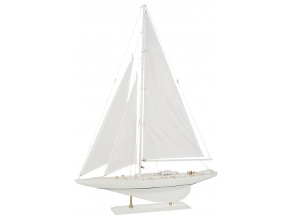 loď dřevěná bílá