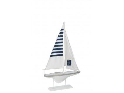 loď bílo-modrá