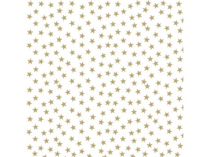 Ubrousky 33 Stars And Trees Gold