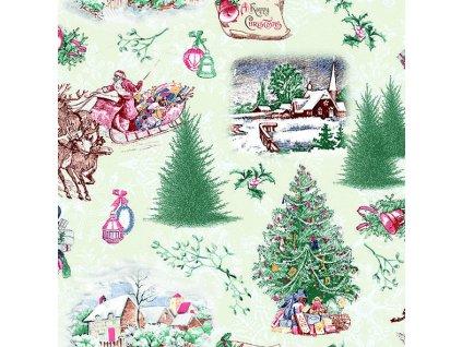 Ubrousky 33 Nostalgic Christmas Green
