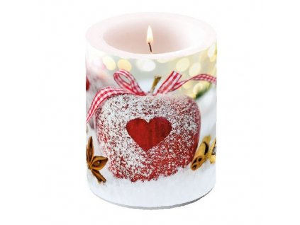 Candle Big Heart On Apple