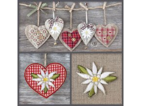 Napkin 33 Edelweiss Decorations