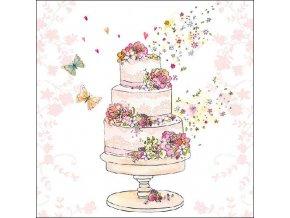 Napkin 33 Flowered Wedding Cake