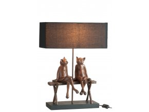 Lampa 2 kočky na lavičce