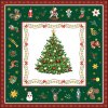 Napkin 33 Christmas Evergreen Green
