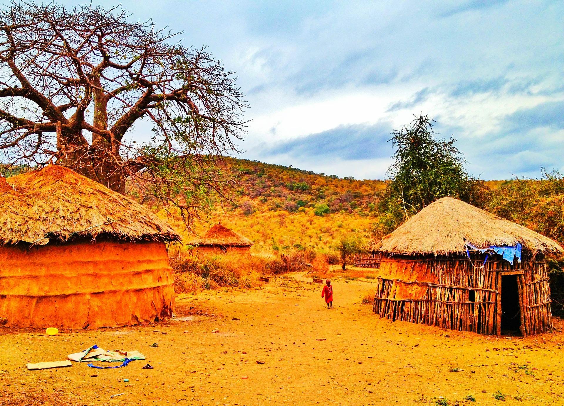 Rituální domek sekty Mungiki, centrální Keňa