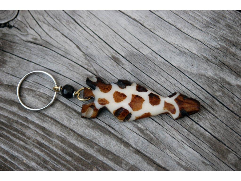 Klíčenka se žirafí hlavou