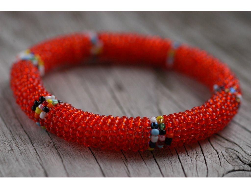 Korálkový masajský náramek - různé barvy