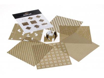Origami papíry Zlatá loď