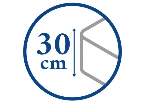 Výška matrace do 30 cm