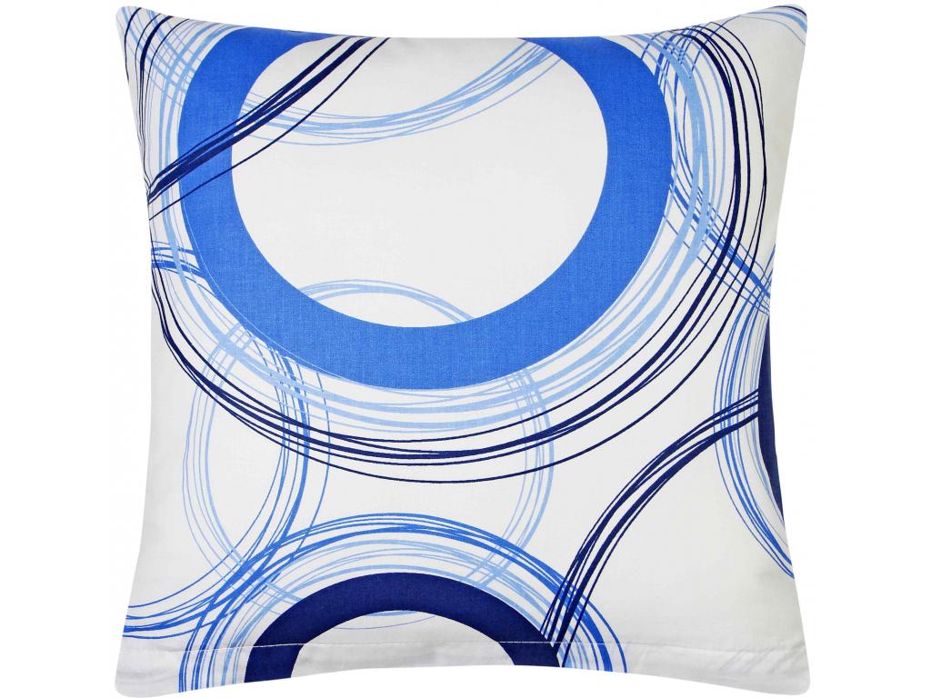 Bavlněný povlak na polštář Ruota blue