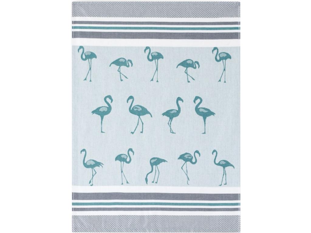 sciereczka bambusowa flamingi zielony
