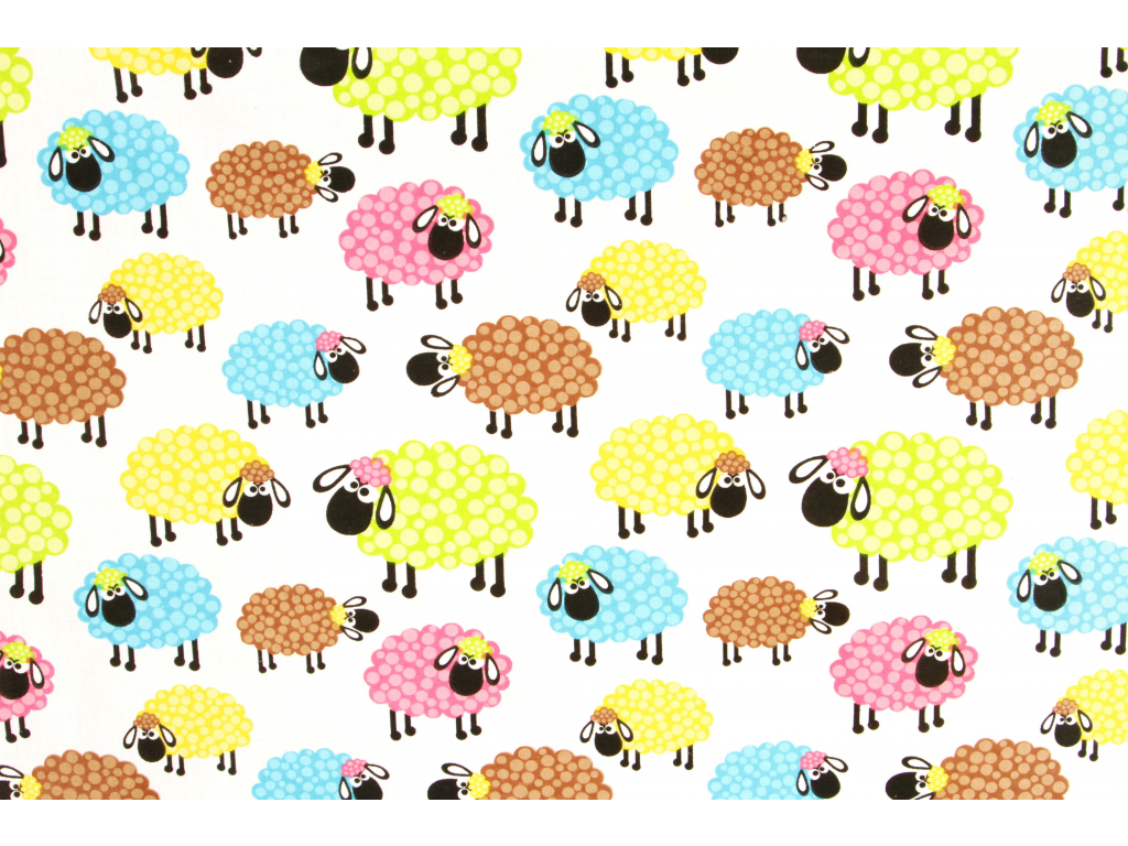 ovečky barevné