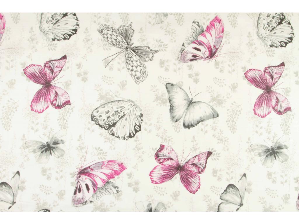Motýl retro růžová kopie