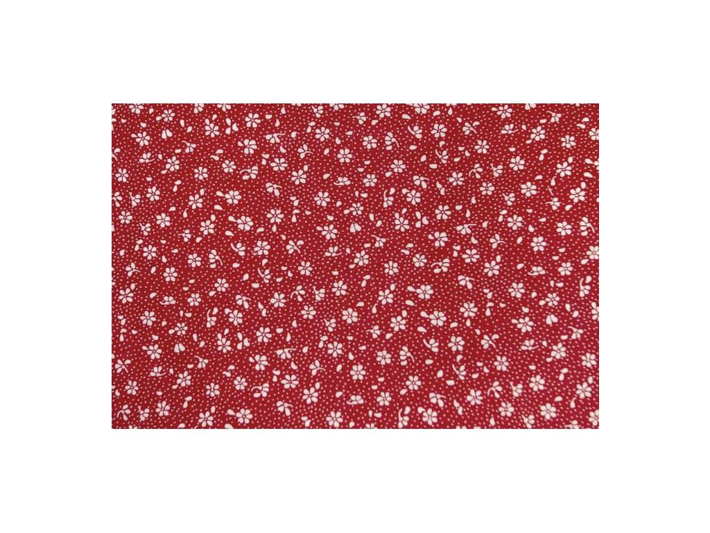 9089 bavlnena latka venkov cervena s 160