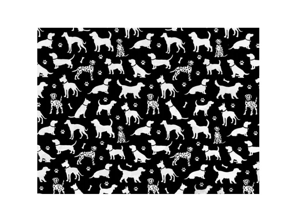 Screenshot 2020 09 30 bavlněná látka Dalmatin černý š 160 Darré