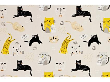 Mlsné kočičky béžová (2)