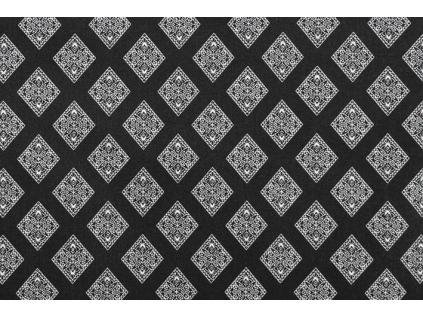 bavlněná látka Paola black  š.160